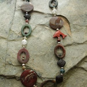 Funky Jasper Long Handmade Necklace
