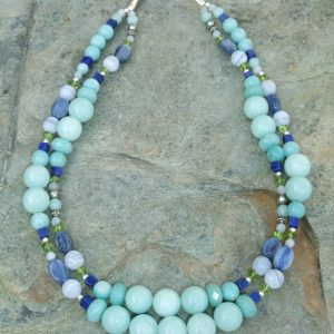 Handmade Gemstone Beaded Necklace