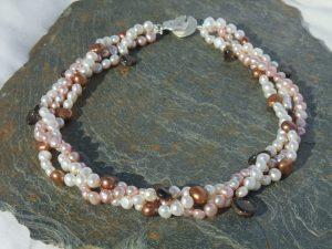 Handmade Gemstone Beaded Necklace