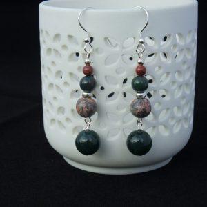 Green Jasper Earrings
