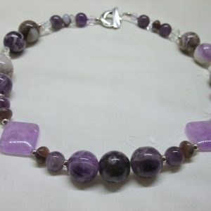 Handmade Beaded Necklace Cape Amethyst