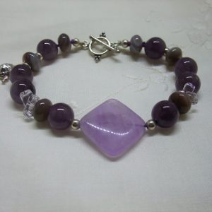 Lilac and Purple Amethyst Bracelet
