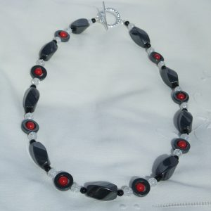 Haematite and Bamboo Coral Necklace