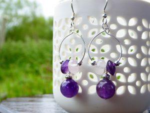 Handmade Gemstone Beaded Earrings