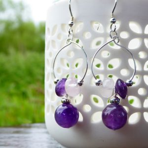 Handmade Gemstone Beaded Earrings