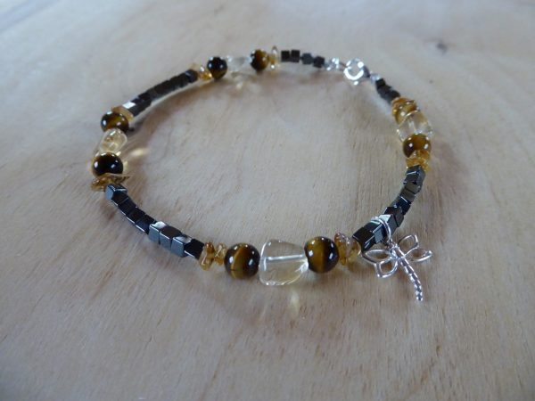 Handmade Anklet Tigers eye and Citrine