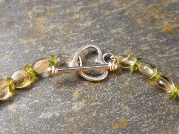 Serpentine Leaf Necklace Clasp.