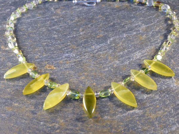 Serpentine Leaf Handmade Necklace.