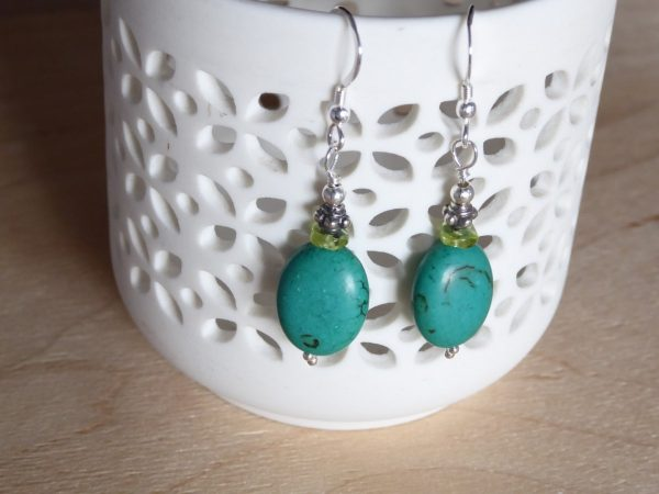 Turquoise Gemstone Beaded Earrings