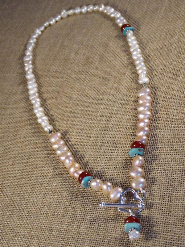 Handmade Pearl Beaded Necklace