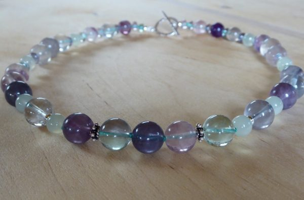 Fluorite and Serpentine Necklace