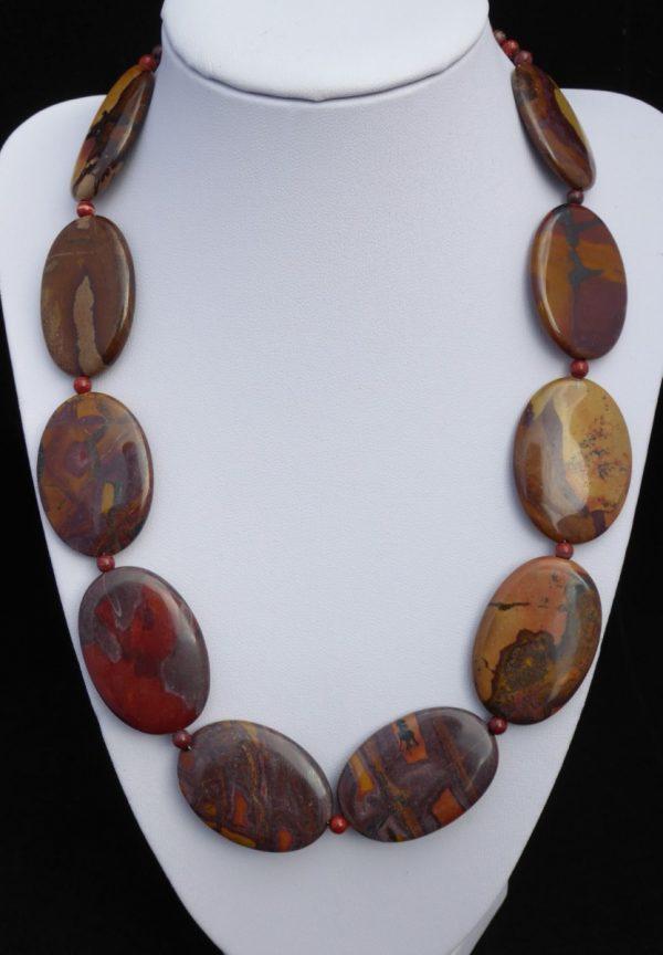Necklace Autumn Jasper Ovals