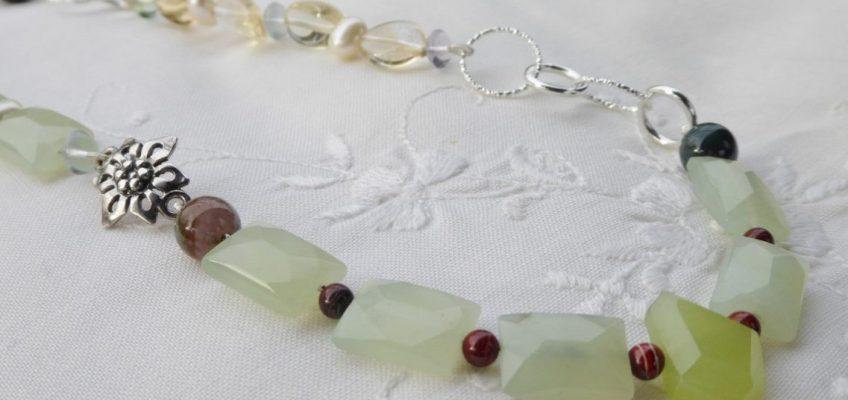 Handmade Serpentine Gemstone Necklace