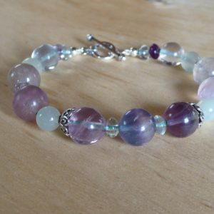 Fluorite Gemstone Handmade Bracelet