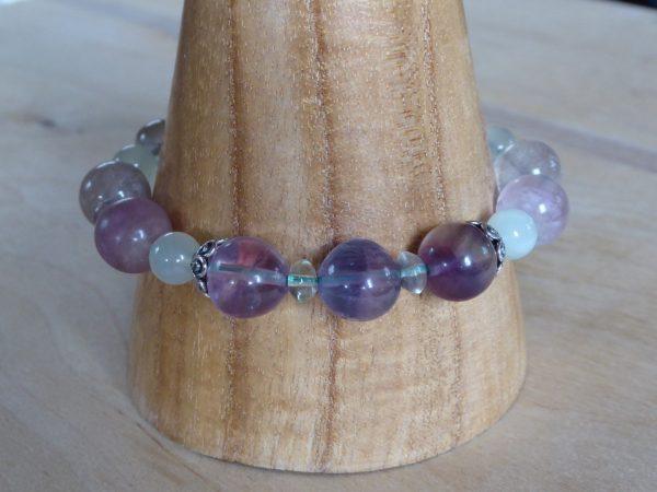 Fluorite and Serpentine Gemstone Bracelet