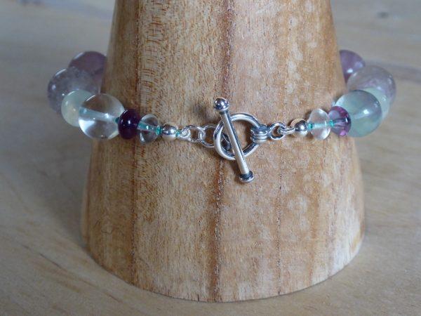 Handmade Beaded Fluorite Bracelet Clasp